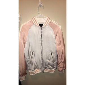 White & pink bomber jacket, brand new!